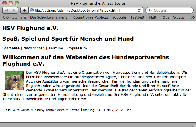 Screenshot 3: HSV Flughund e.V.