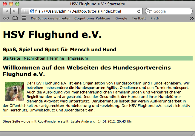 Screenshot 4: HSV Flughund e.V.